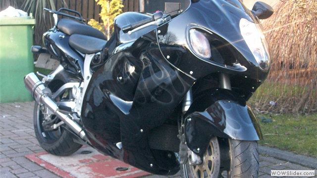 Suzuki Hayabusa Ghost Flamed Fairings by NiceCycle