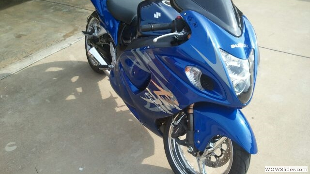 Suzuki Hayabusa Custom Blue Fairings by NiceCycle