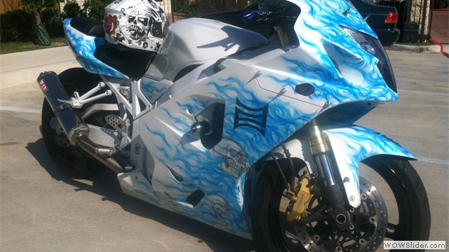 Suzuki GSXR Airbrushed Fairings by NiceCycle