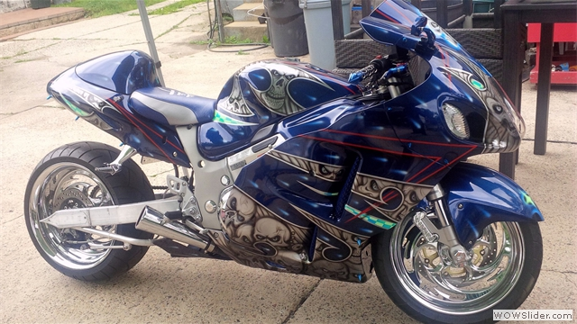Custom Airbrushed Fairing Kit by NiceCycle