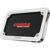 Cobra Billet Chrome License Plate Frame