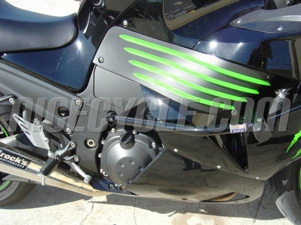 Kawasaki ZX14R 2006-2011 Race Rail Frame Sliders Stunt ...