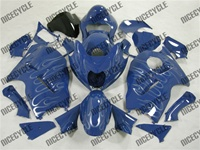 Blue Ghost Flames Suzuki GSX-R 1300 Hayabusa Fairings