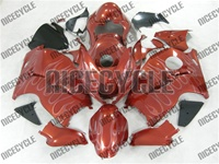 Burgundy Metallic Ghost Flame Suzuki GSX-R 1300 Hayabusa Fairings