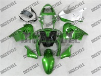 Kawasaki ZX9R Dark Metallic Green Fairings