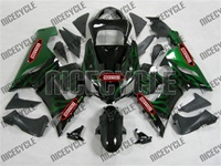 Kawasaki ZX6R Green Fire Fairings