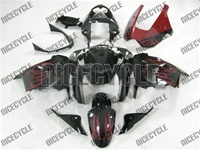 Kawasaki ZX9R Red Flame Fairings