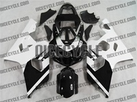 Black/White Suzuki GSX-R 600 750 Fairings