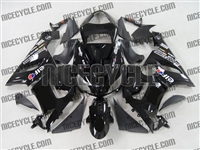 Kawasaki ZX6R Black Race Sponsor Fairings