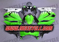 Green/White Ninja 250R Fairings