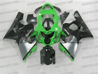 Green/Black Suzuki GSX-R 600 750 Fairings