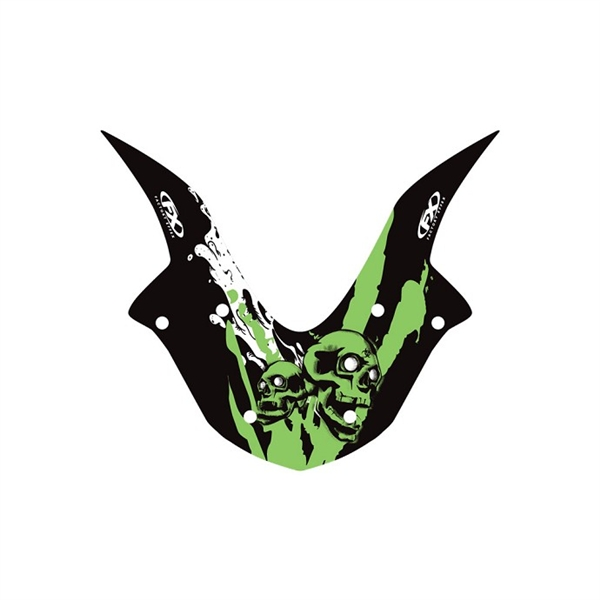 Kawasaki Ninja Skull Ev R Windscreen Decal Graphics By