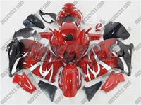 Suzuki GSX-R 1300 Hayabusa Custom Red Tribal Fade Fairings