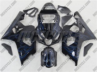 Dual Blue Flame Suzuki GSX-R 600 750 Fairings