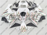 Kawasaki ZX6R Red/Green Dual Flame Fairings