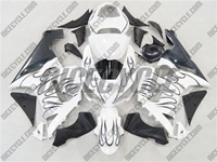 Kawasaki ZX6R Midnight Blue Flame Fairings