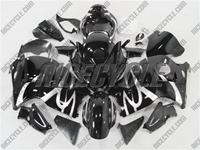 Suzuki GSX-R 1300 Hayabusa Silver Tribal on Black Fairings