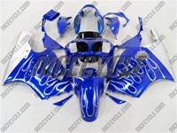 Kawasaki ZX12R Metallic Blue Flame Fairings