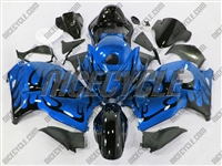 vil Blue Tribal Suzuki GSX-R 1300 Hayabusa Fairings