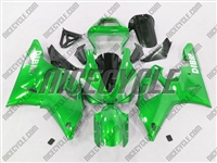 Yamaha YZF-R1 Green Ghosted Flame Fairings