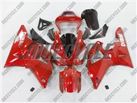 Yamaha YZF-R1 Red Ghosted Flame Fairings