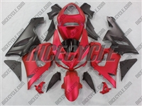 Kawasaki ZX6R Matte Red Fairings