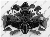Suzuki GSX-R 1300 Hayabusa Grey Flame on Black Fairings