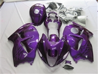 Suzuki GSX-R 1300 Hayabusa Purple Airbrush on Black Fairings