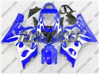 Blue Tribal Suzuki GSX-R 600 750 Fairings