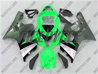 Green/Silver Suzuki GSX-R 600 750 Fairings