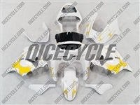 Kawasaki ZX9R Yellow Tribal Fairings