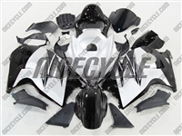 Suzuki GSX-R 1300 Hayabusa Black on White Fairings