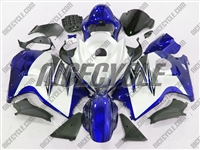 Suzuki GSX-R 1300 Hayabusa Blue on White Fairings