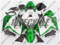 Suzuki GSX-R 1300 Hayabusa Green on White Fairings