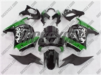 Ninja 250R Tribal Graphic Green Fairings
