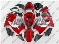 Suzuki GSX-R 1300 Hayabusa Red/Silver Fairings
