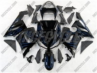 Kawasaki ZX6R Blue Ice Fire Fairings