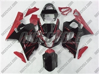 Black/Red Accents Suzuki GSX-R 600 750 Fairings