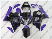 Black/Purple Accents Suzuki GSX-R 600 750 Fairings