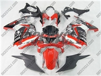 White/Red Monster Style Ninja 250R Fairings