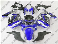 Ninja 250R White/Blue Monster Style Fairings