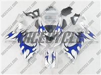 Silver/Blue Tribal Suzuki GSX-R 600 750 Fairings