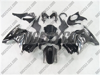 Black Tribal White Ninja 250R Fairings
