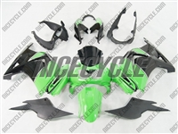Ninja 250R Black/Green Fairings