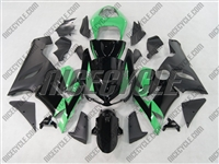 Kawasaki ZX6R Black/Mint Green Fairings