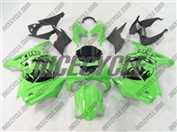 Ninja 250R Skull Head Green Fairings