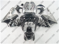 Silver/Black Kawasaki ZX-9R Fairings