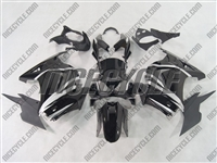 Black/Silver Ninja 250R Fairings