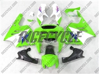 Kawasaki ZX-9R Green/White Fairings