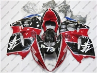 Suzuki GSX-R 1300 Hayabusa Black/Red Racing Fairings